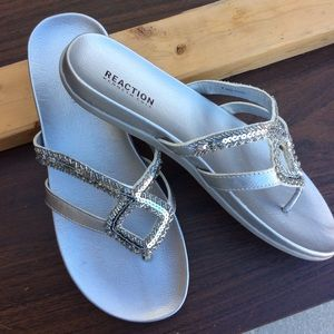 Kenneth Cole Reaction Jeweled Sandals